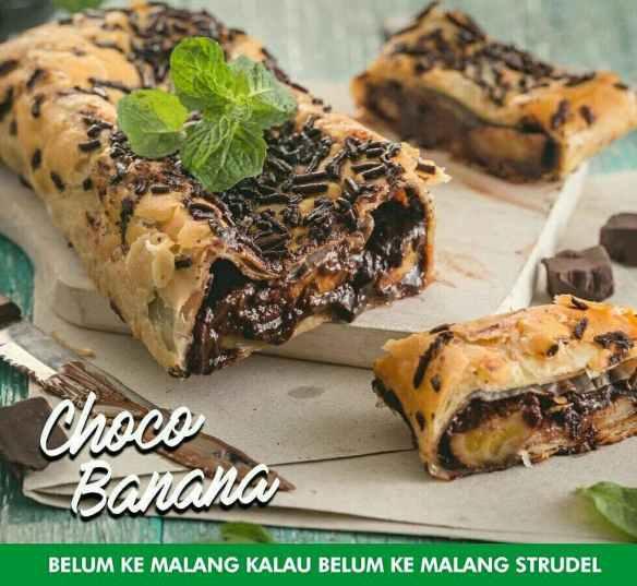 choco banana Malang Strudle
